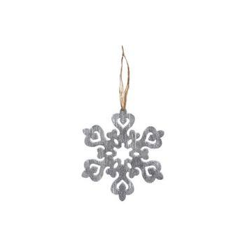 Cosy @ Home Hanger Schneeflocke Silb Glitter 15x1x15