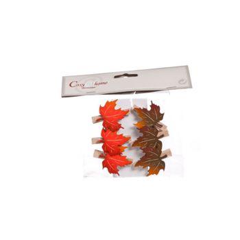 Cosy @ Home Clip Autumn Leafs 6pcs 3.5x4.5cm