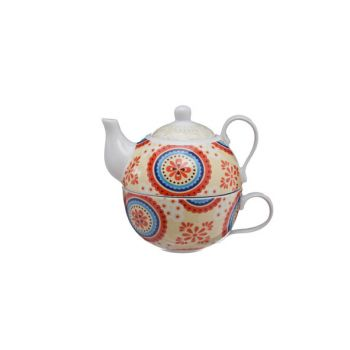 Cosy & Trendy Teapot With Cup Deco D10xh12cm