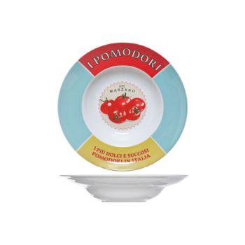 Cosy & Trendy Pasta Plate D19-30xh6cm Deco I Pomodori