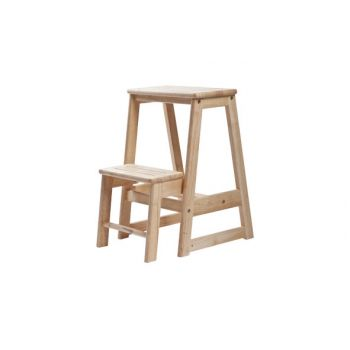 Cosy & Trendy Two Steps Stool Wooden Colour