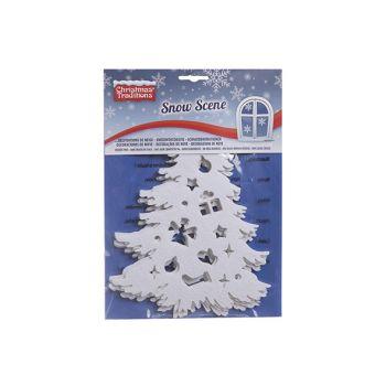 Goodmark Fenster Kleber Snow Baum Set5 Filt