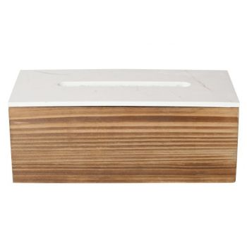 Cosy & Trendy Storage Box Kleenex Wood 25x12x10cm