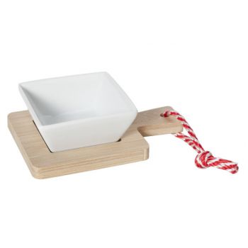 Cosy & Trendy Dish On Bamboo Tray 14x10x4.2cm