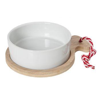 Cosy & Trendy Dish On Bamboo Tray 17x13x5cm