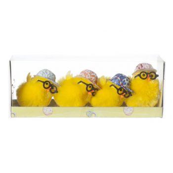 Cosy @ Home Kucken Mit Brille Und Cap Set4 Gelb 4xh5