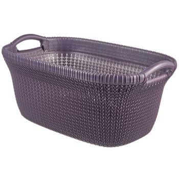 Curver Knit Wasmand 40l Twilight Purple