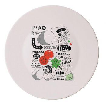 Bormioli Pizza Plate Recipe 33 Cm Set 4