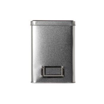 Cosy & Trendy Silver Teabox Tin 10.8x10.8xh15cm