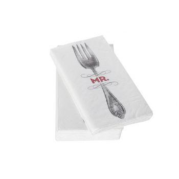 Cosy & Trendy Lunch Napkin Mr Fork 33x33cm S16