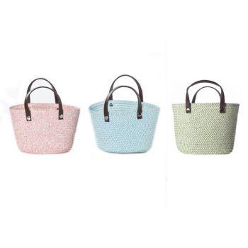 Cosy @ Home Mini Shoppingtasche 3 Types Weide 12x9xh9cm