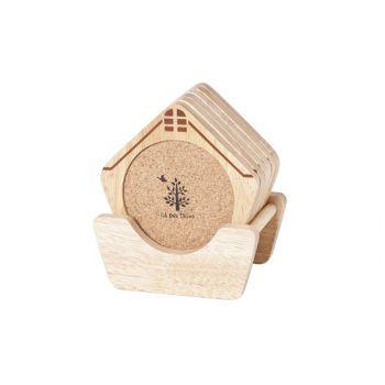 Cosy & Trendy Coasters Model House Set6 Print - Holder