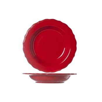 Cosy & Trendy Juliet Red Deep Plate Bright D23cm