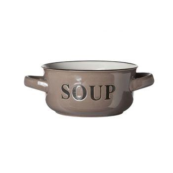 Cosy & Trendy Soup Bowl Grey 13.5xh6.5cm