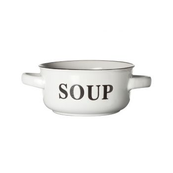 Cosy & Trendy Soup Bowl White D13.5xh6.5cm