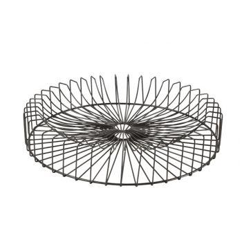 Cosy & Trendy Orbit Fruit Basket Black Round D40xh6cm