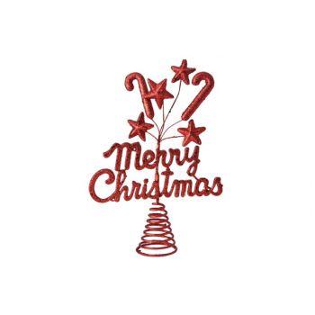 Cosy @ Home Baumspitze Merrychristmas Glitzer Rot