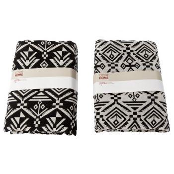 Cosy @ Home Inca Fabric Black Grey 2 Types 1.5x2m