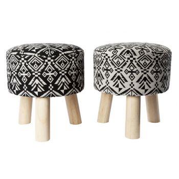 Cosy @ Home Inca Crutch Black Grey 2 Types 30x30x35cm