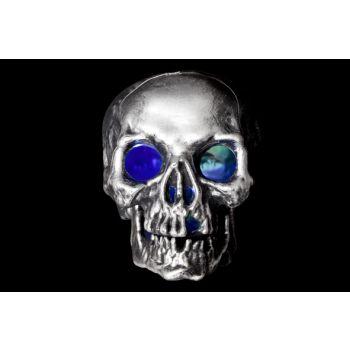 Cosy @ Home Skull With Led Light Silvbrush 16x21x16c