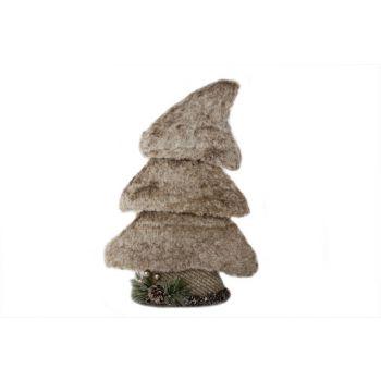 Cosy @ Home Weihnachtsbaum Pluche Grau 26x8x39cm