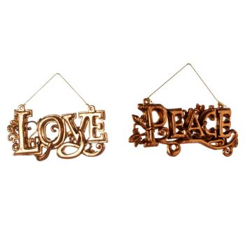 Cosy @ Home Love Peace Hang 2 Types Kupfer 12xh6cm