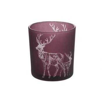 Cosy @ Home T-lightholder Deers Bordeaux D7x8cm