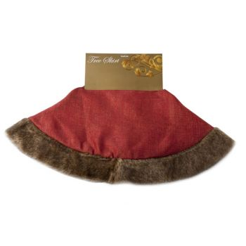 Cosy @ Home Tree Skirt Red With Fur D104cm