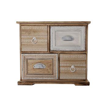 Cosy @ Home Cabinet 3 Draw. Josephine Wood 47x16x41