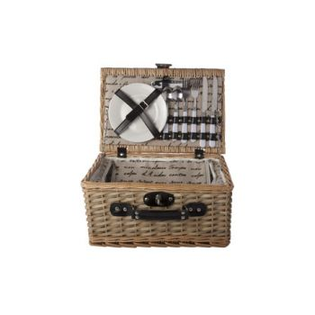 Cosy & Trendy Picnic Basket 2p - Cutlery-plates-glasse