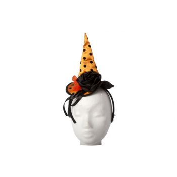 Cosy @ Home Hairband Witch Hat Orange Black