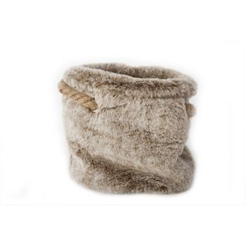 Cosy @ Home Bag Plush Gray Flax String 20x20x18cm