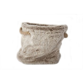Cosy @ Home Bag Plush Gray Flax String 24x24x20cm