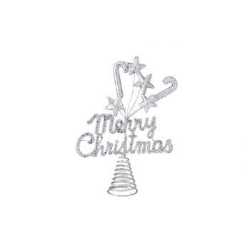 Cosy @ Home Baumspitze Merrychristmas Glitzer Silber