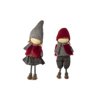 Cosy @ Home Lena Girl Standing 2 Types 13x10x52cm Red