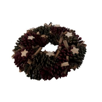 Cosy @ Home Wreath Red Green  Holz D38xh9cm