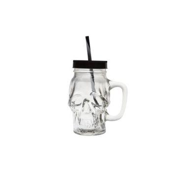 Cosy & Trendy Skull Jar With Handle D7xh15cm Black