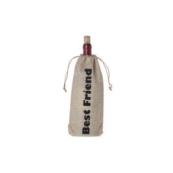 Cosy & Trendy Wine Bag 'best Friend' 15xh30cm