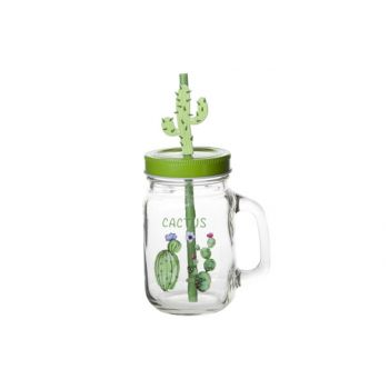 Cosy & Trendy Cactus Jar With Handle D7xh13cm Black