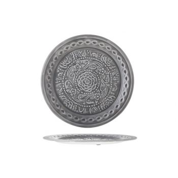 Cosy & Trendy Plate 35x35x2cm Metal Grey Lacquer
