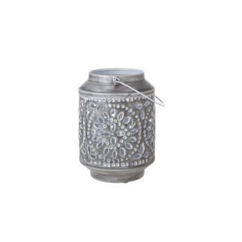 Cosy & Trendy Lantern 18x18x24cm Metal Gray Lacquer