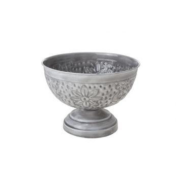 Cosy & Trendy Bowl On Foot 20.5x20.5x15cm Metal Gray