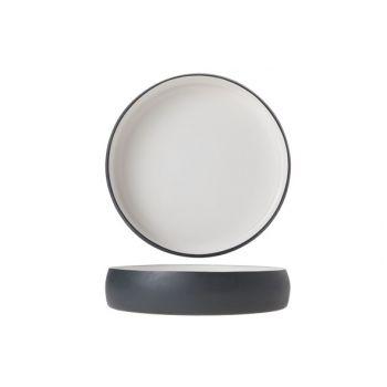 Cosy & Trendy Plate Alu 22cm White Enamel Grey Grahit