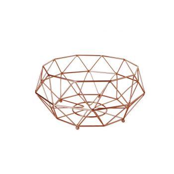 Cosy & Trendy Fruit Basket Copper Plated D32xh15cm