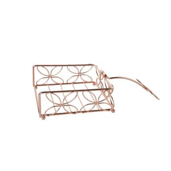 Cosy & Trendy Napkin Holder Copper Plated 20x20xh7.5cm