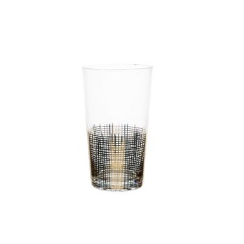 Cosy & Trendy Glass Gold Decal Set4 D8,5x17,4cm