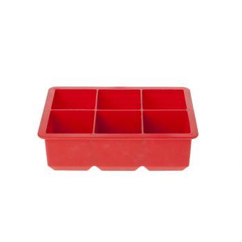 Cosy & Trendy EiswÜrfelhalter Cube Rot 6stk 16x11x5cm