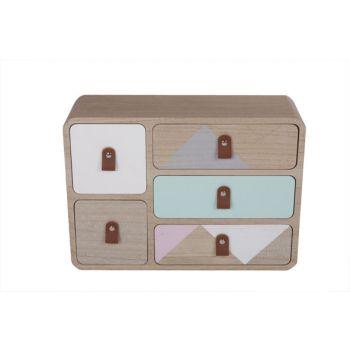 Cosy @ Home Cabinet Retro Wood 33x11x28.5cm