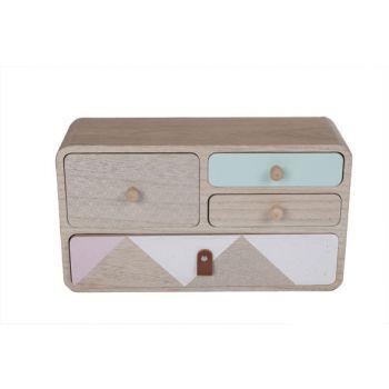 Cosy @ Home Cabinet Retro Wood 34x11x24cm
