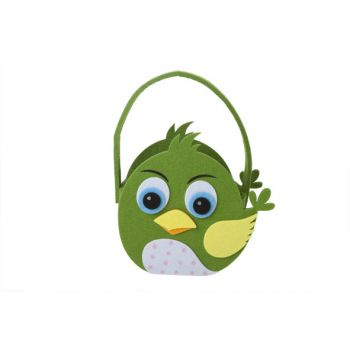 Cosy @ Home Easter Basket Chicken Grun 19x9xh18cm